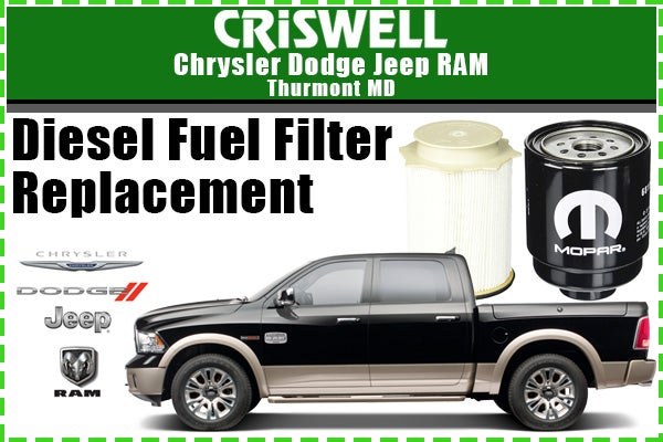 Diesel Fuel Filter Replacement Criswell Cdjr Of Thurmont Specials
